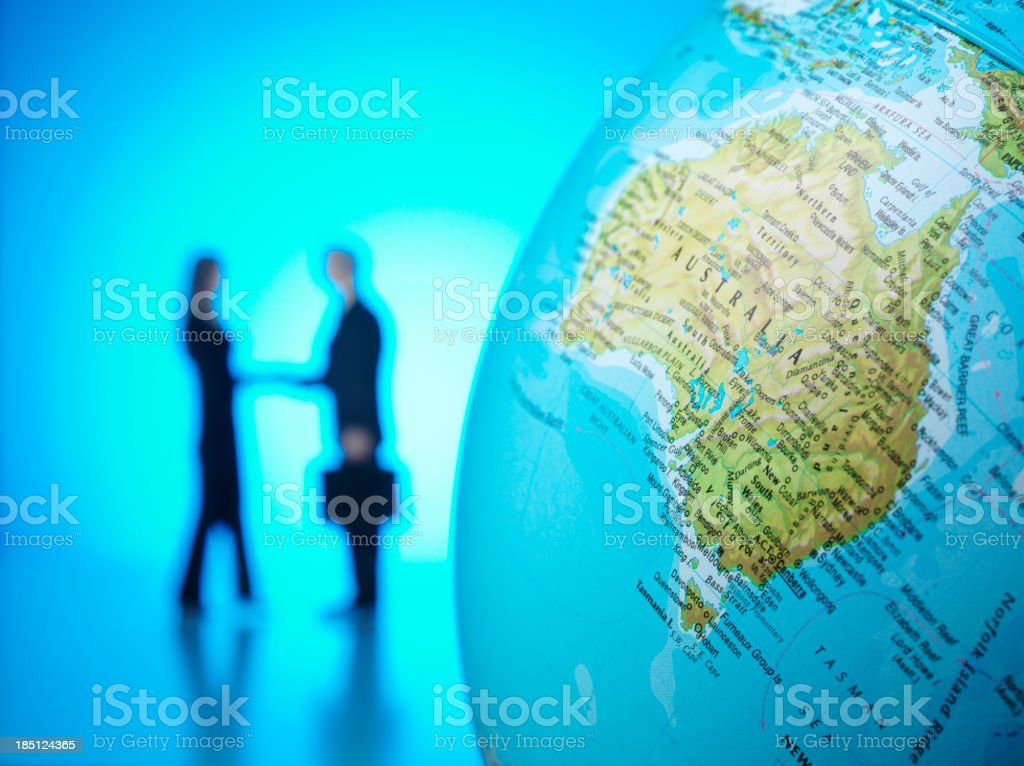 Business Agreement in Australia stock photo