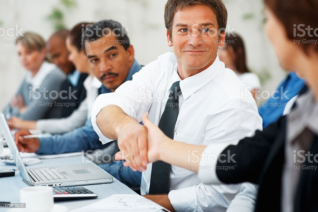 Business agreement stock photo