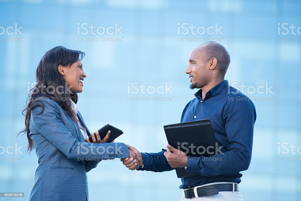 Business agreement. stock photo