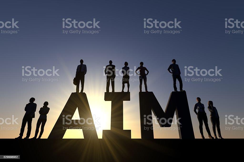 Business aim stock photo