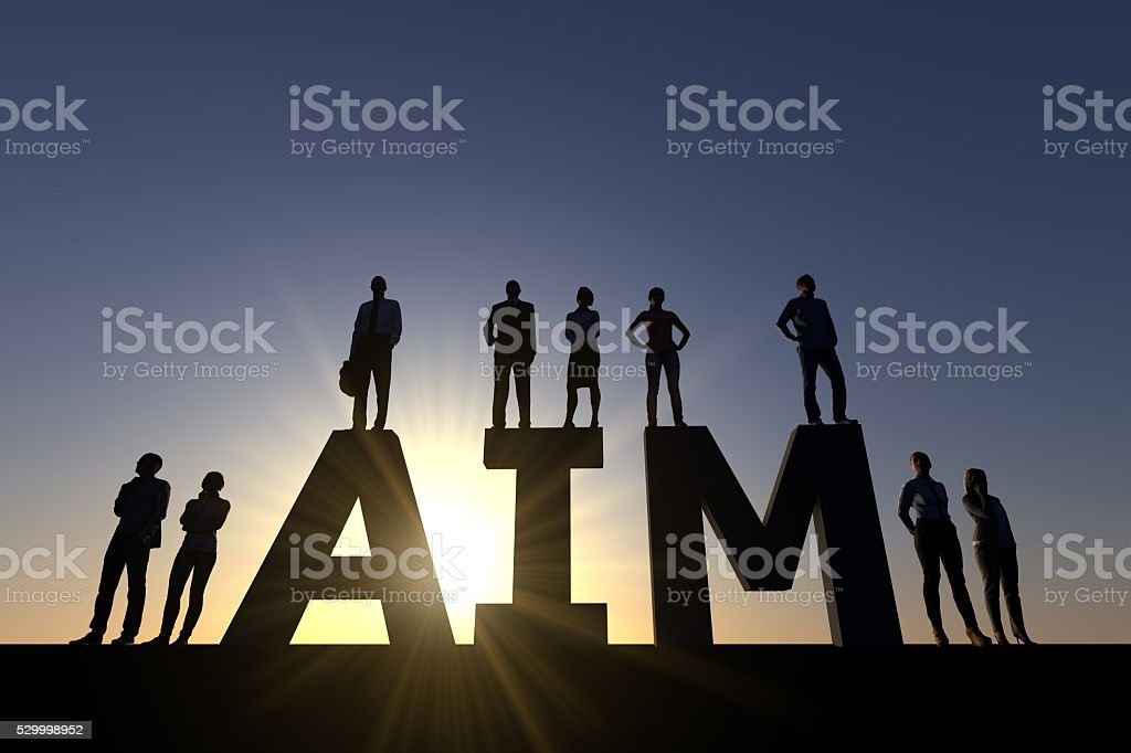 Business aim stock photo