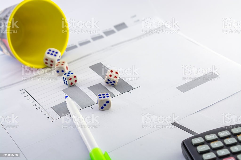 business analysing,probability,statistics,math,gambling,etc stock photo