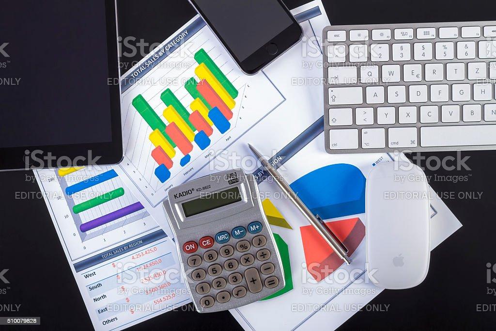Business Analyzing stock photo