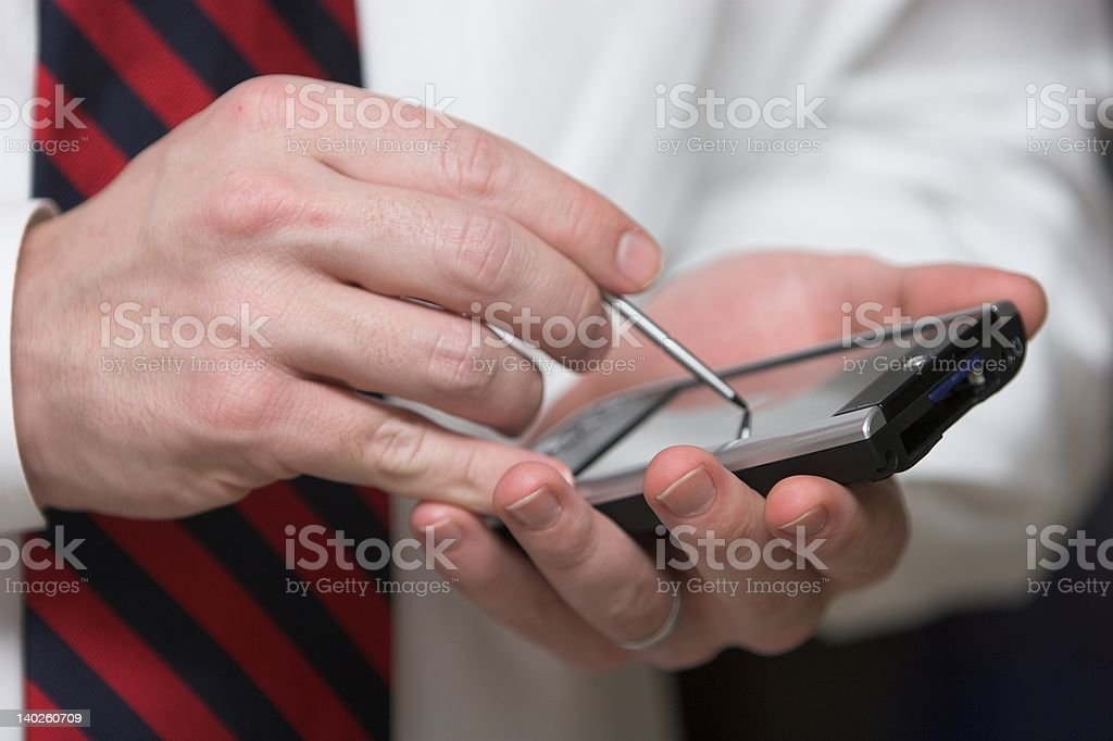 Business and a PDA royalty-free stock photo