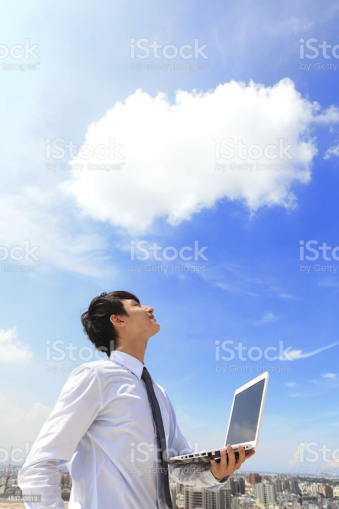 business and cloud computing concept royalty-free stock photo