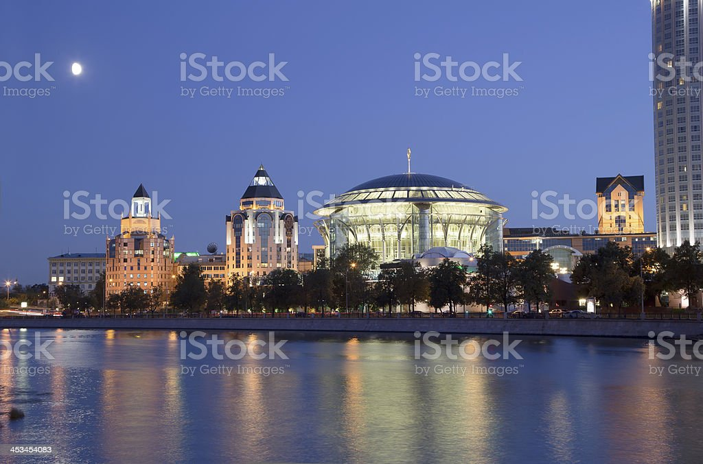 Business and cultural complex Riverside towers, Moscow, Russia royalty-free stock photo