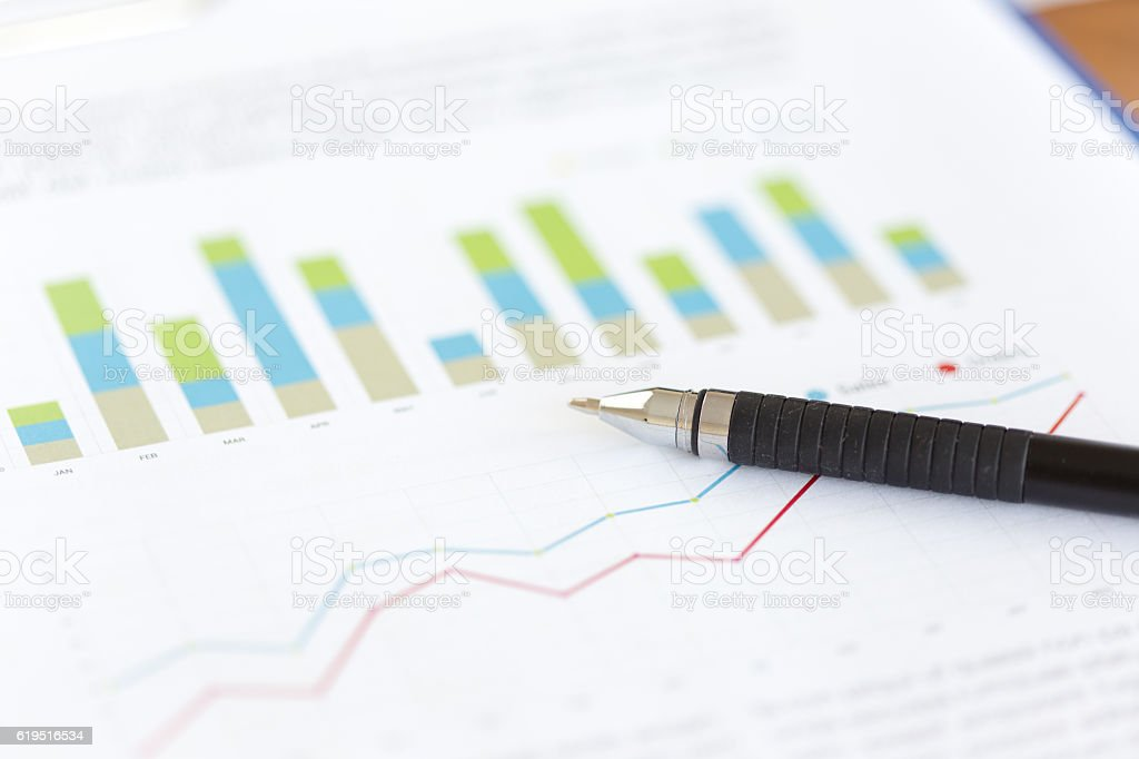 Business and Financial Report. Accounting stock photo