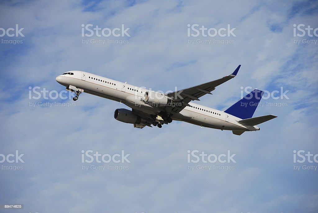Business and leisure travellers in modern jet stock photo