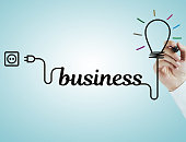 Business and light bulb