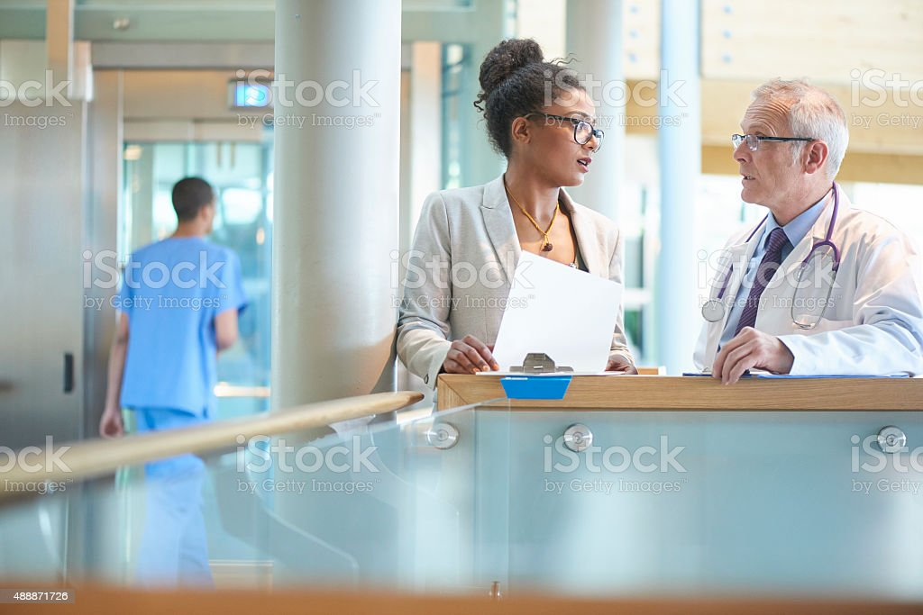 business and medical realtionship. stock photo
