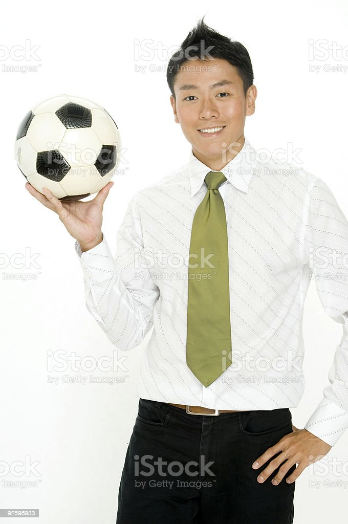 Business and Soccer royalty-free stock photo