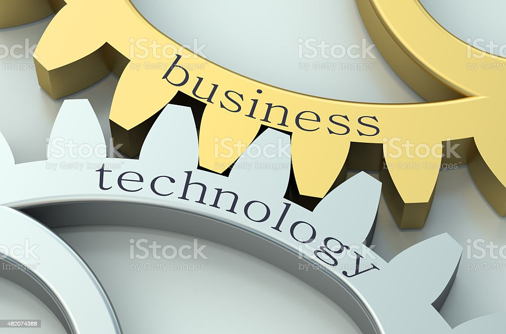 Business and Technology  concept vector art illustration