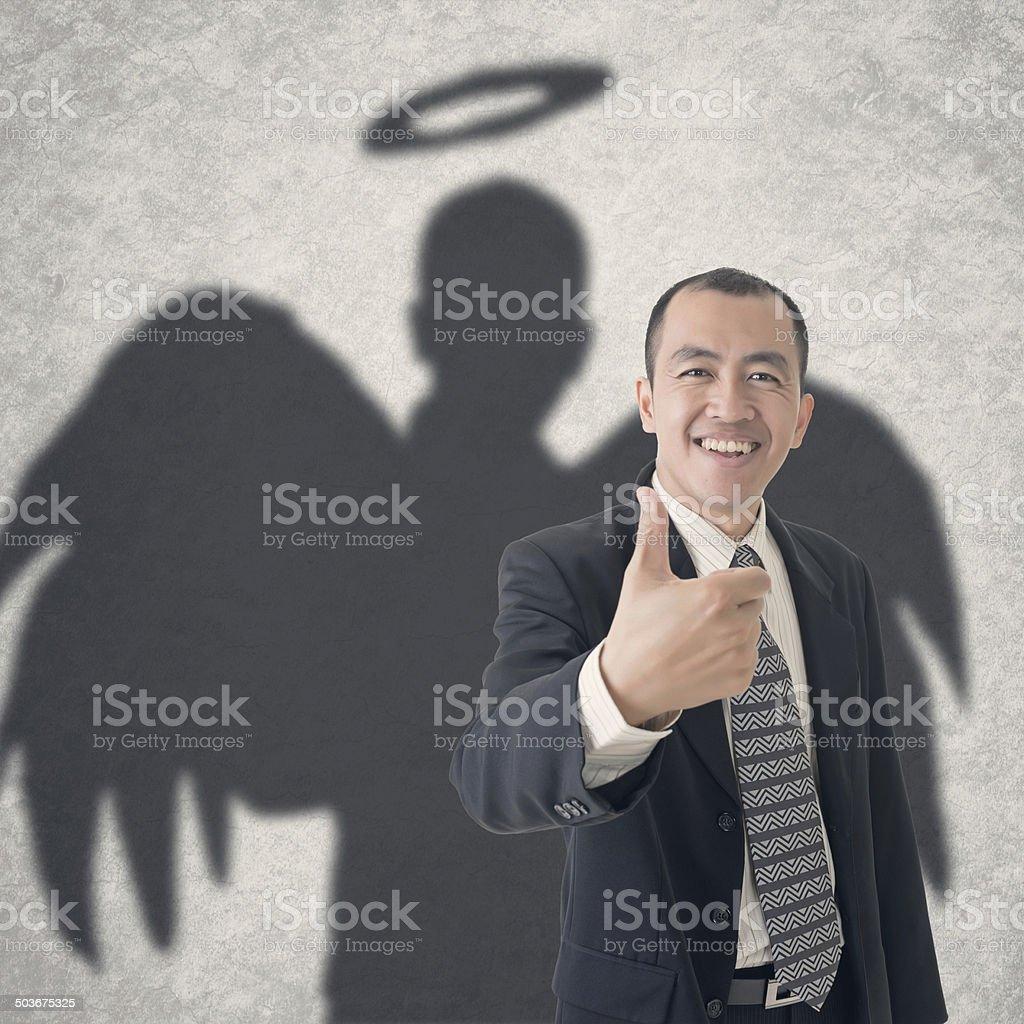 business angel stock photo