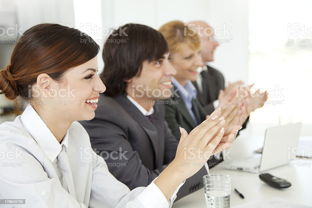 business applaud royalty-free stock photo