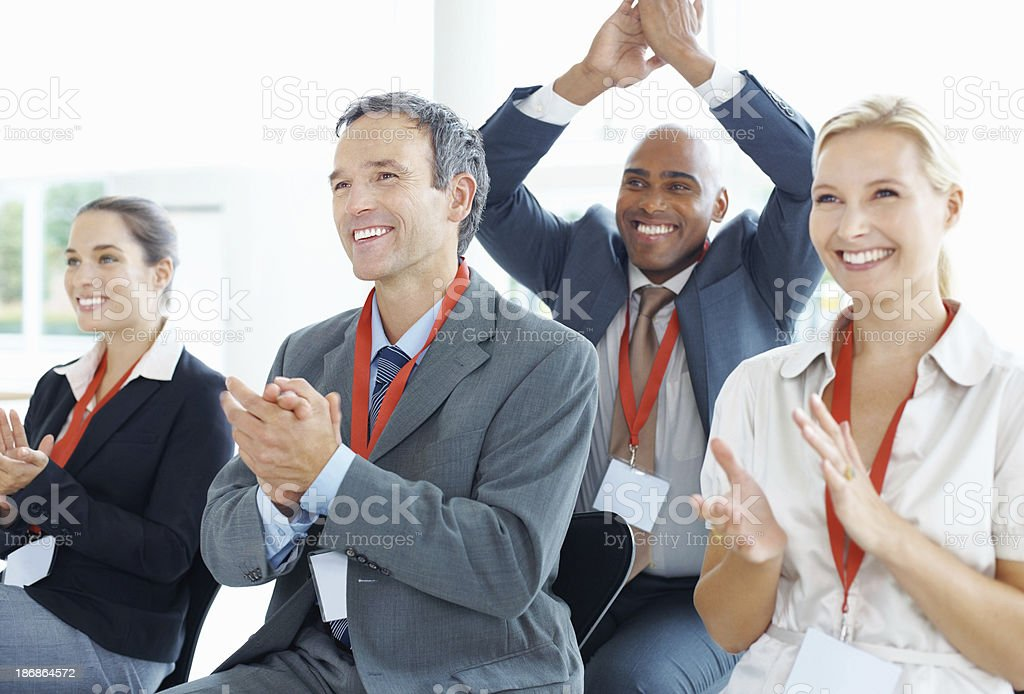 Business applause royalty-free stock photo