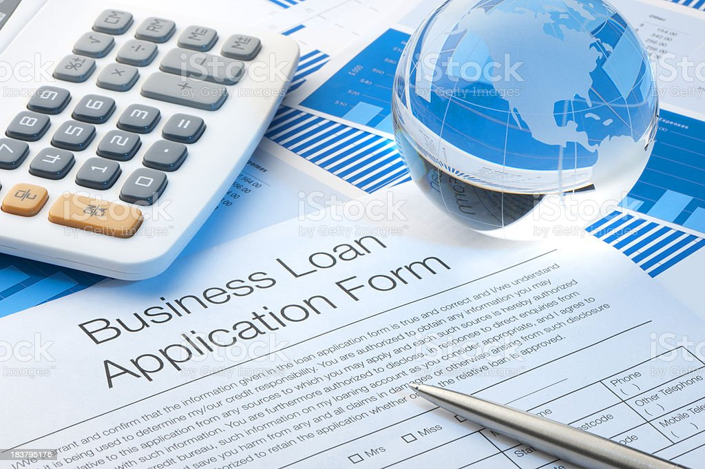 Business application form stock photo