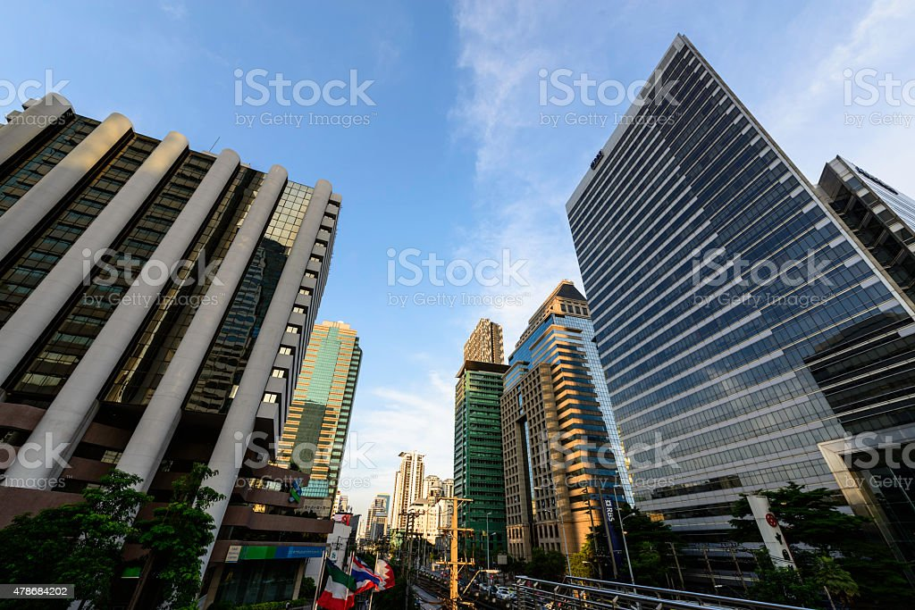 business area , buildings in the city of bangkok royalty-free stock photo