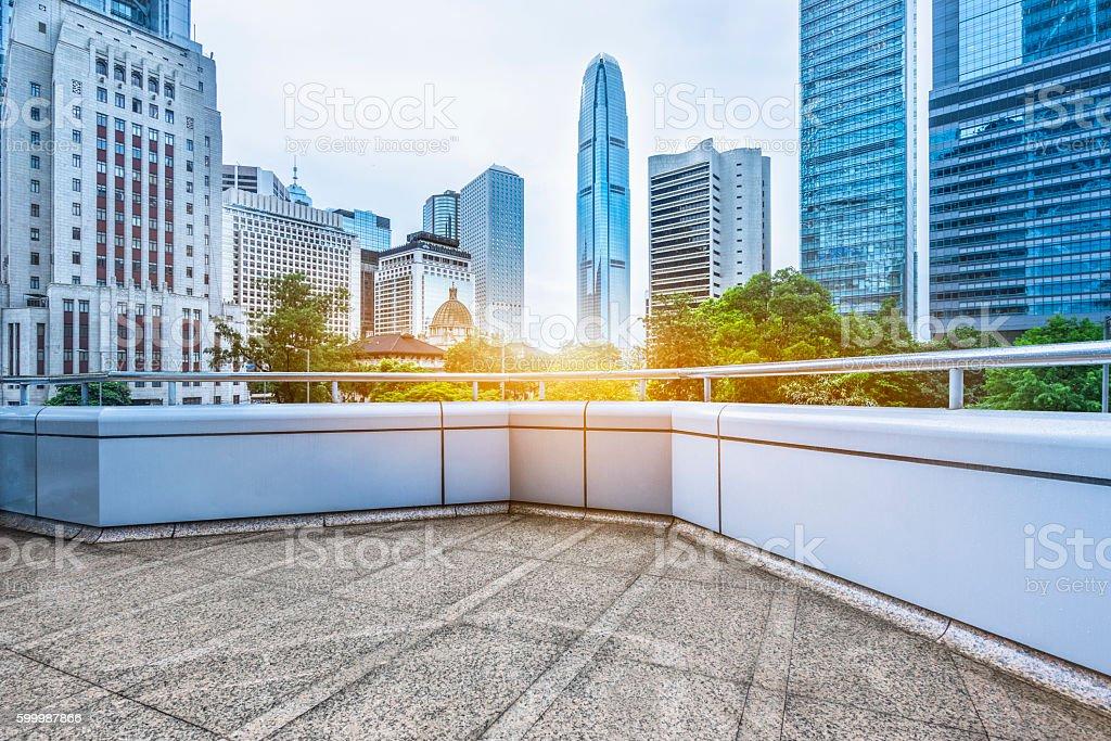 business area of hong kong stock photo