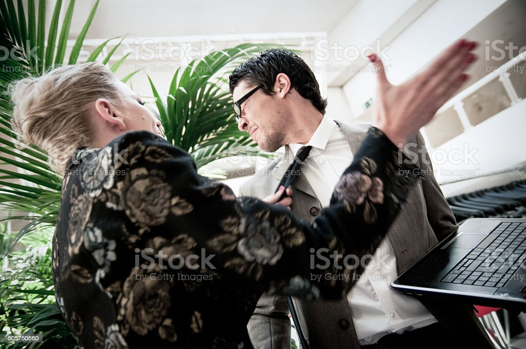 Business Argument stock photo