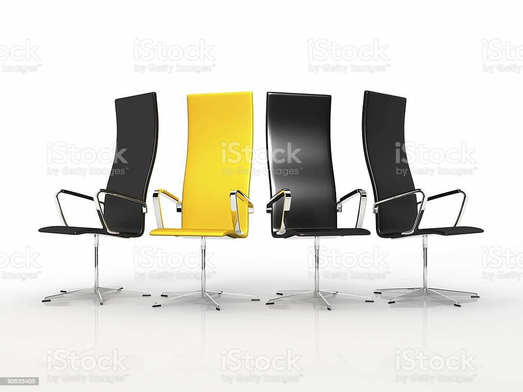 Business armchair royalty-free stock photo