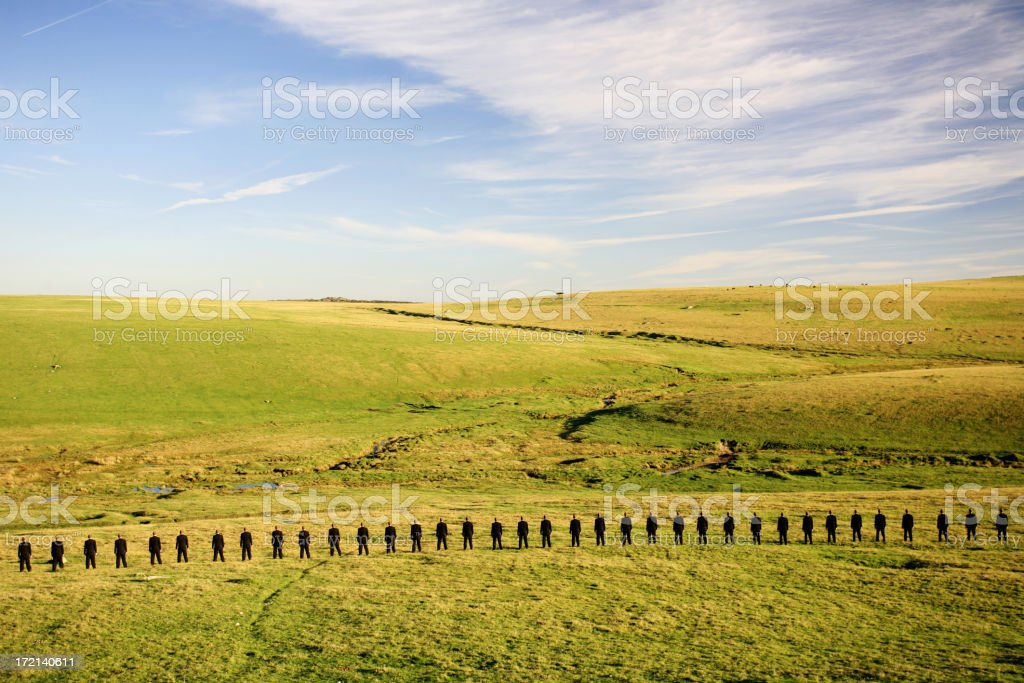 Business army stock photo