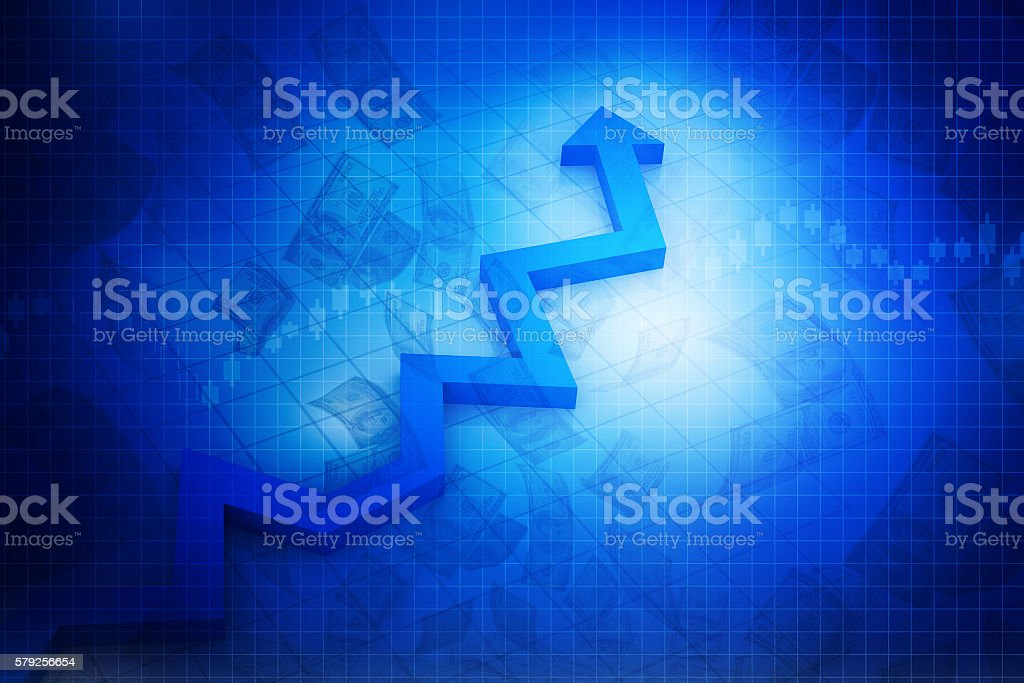 Business Arrow Graph stock photo