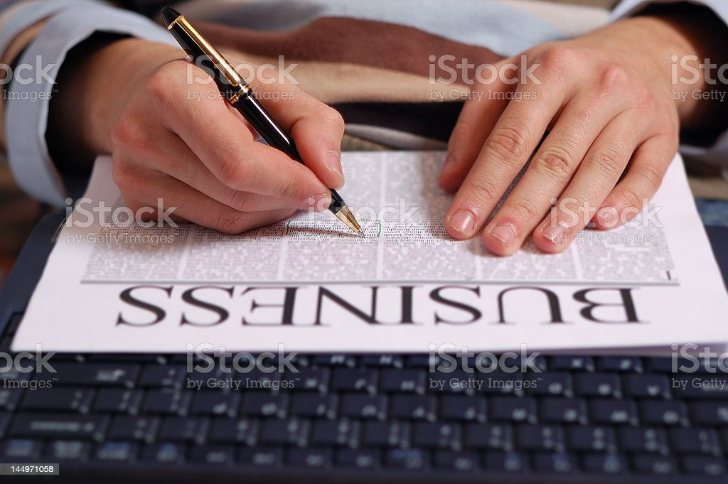 business article stock photo