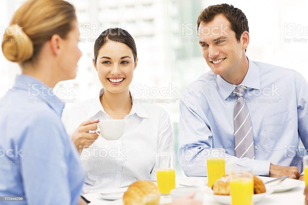 Business Associates Having Breakfast royalty-free stock photo