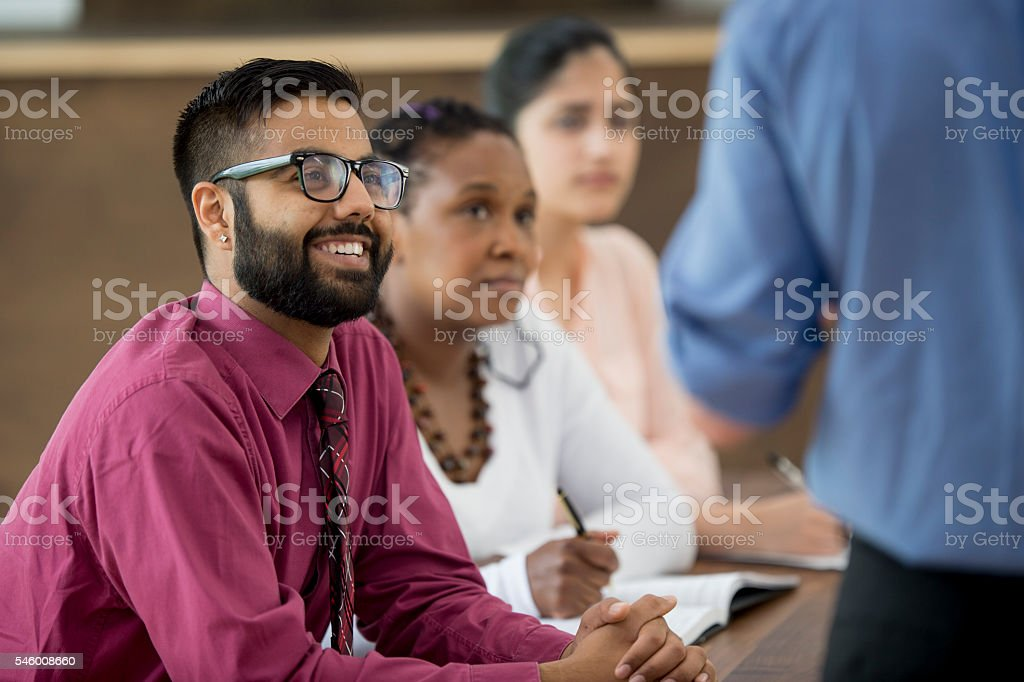 Business Associates in a Meeting stock photo