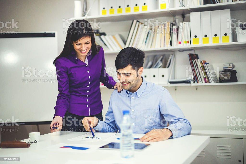 Business associates stock photo