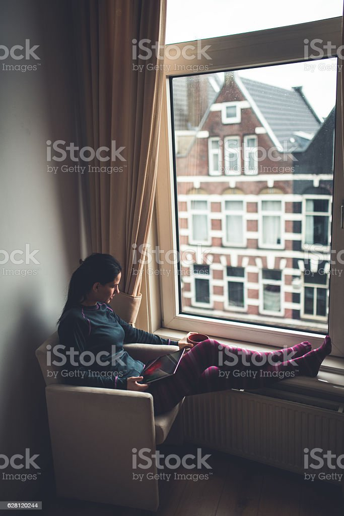 Business at home stock photo