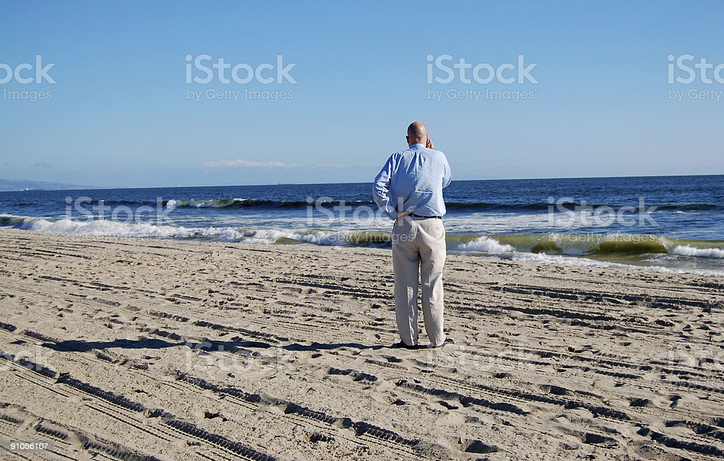 Business at the Beach royalty-free stock photo