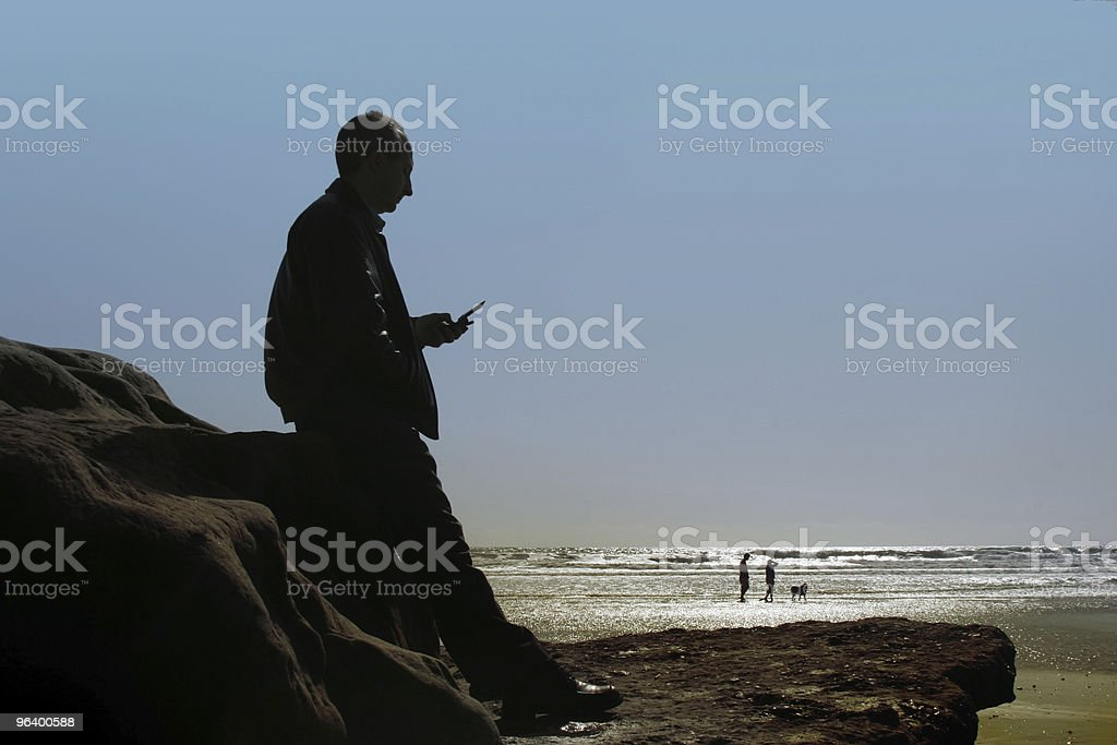 Business at the beach stock photo