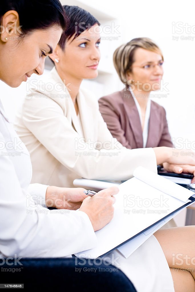 Business Attendees royalty-free stock photo