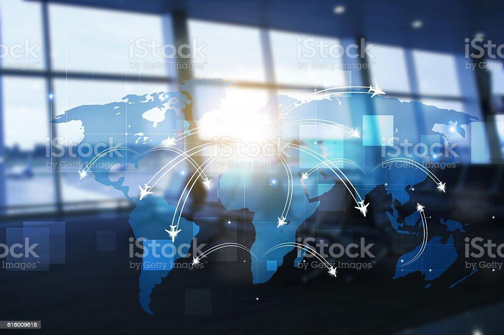 Business Avaitaion Background stock photo