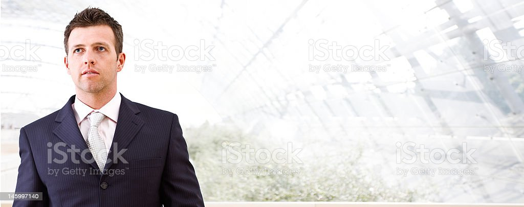 Business banner - mid-adult businessman royalty-free stock photo