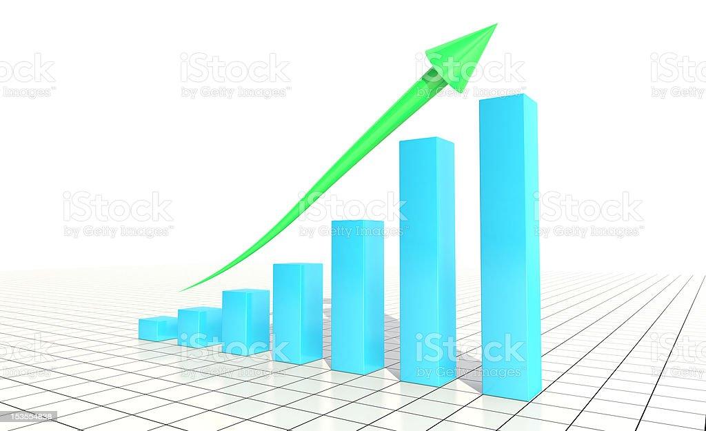 CG Business Bar Graph royalty-free stock photo