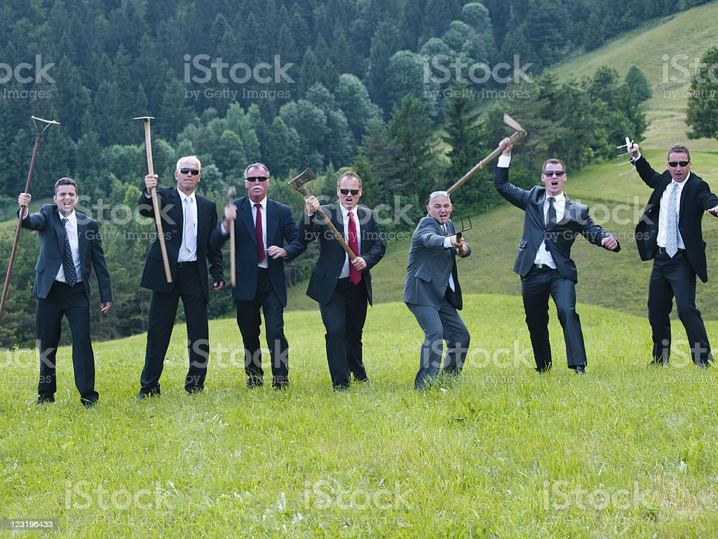 Business Battle in Nature royalty-free stock photo