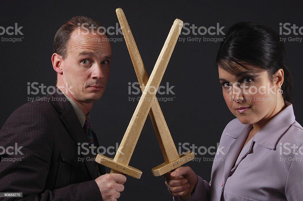 Business battle stock photo