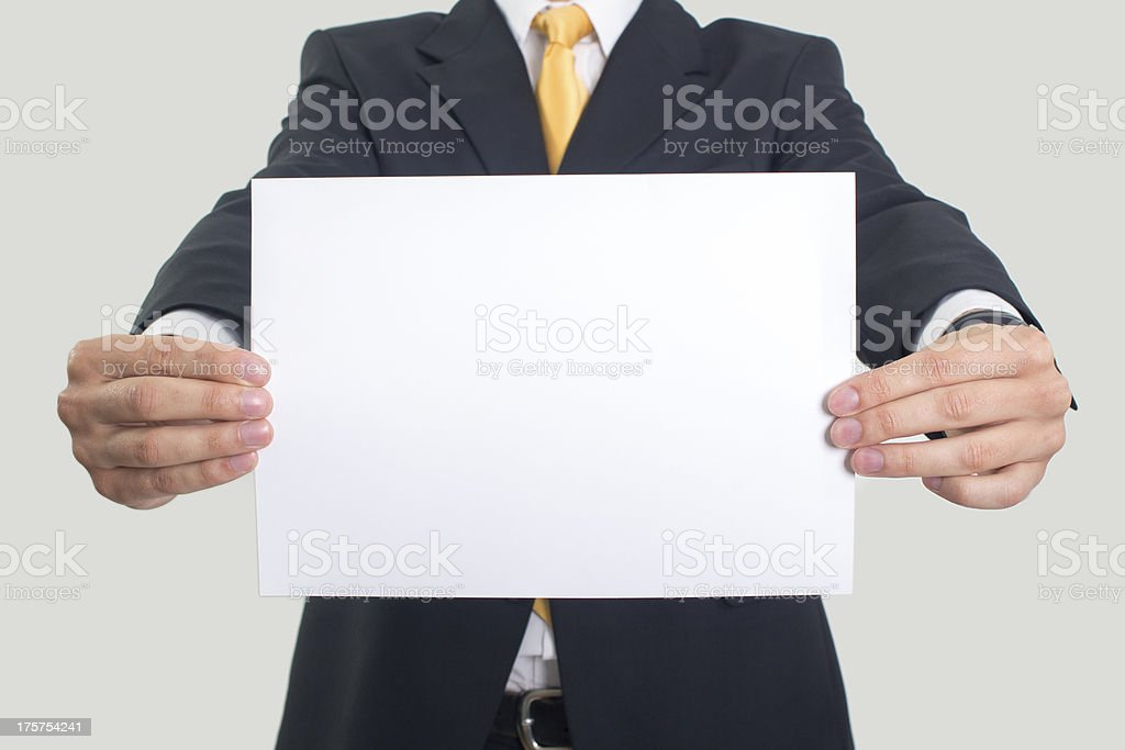 Business blank Sign stock photo
