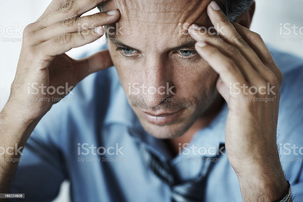 Business blues stock photo