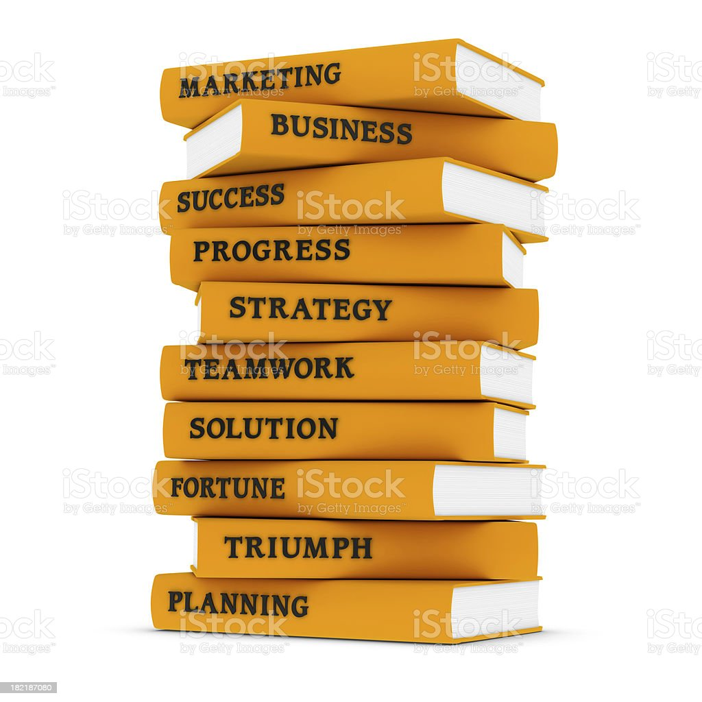 Business Books royalty-free stock photo