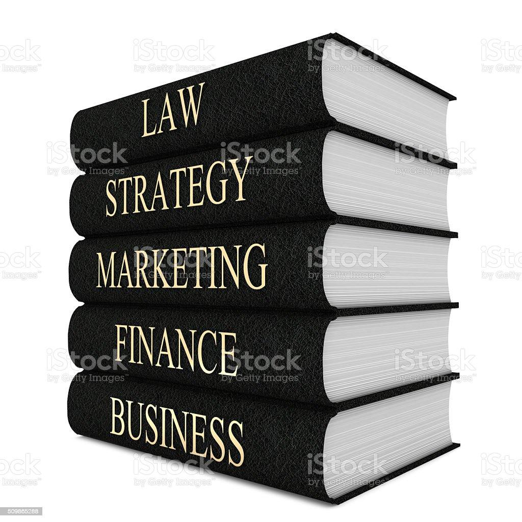 Business books stock photo