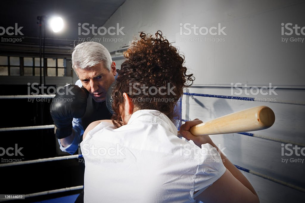 Business Boxing Competition royalty-free stock photo