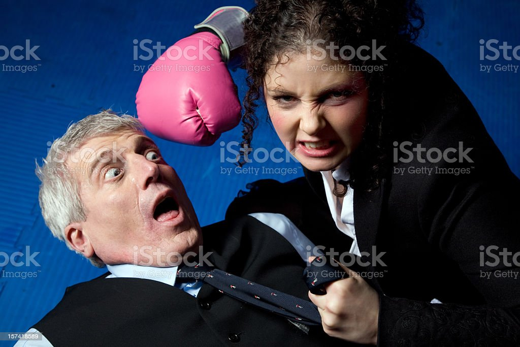 Business Boxing stock photo