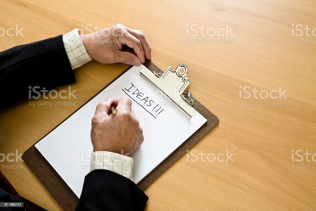 Business brainstorming royalty-free stock photo