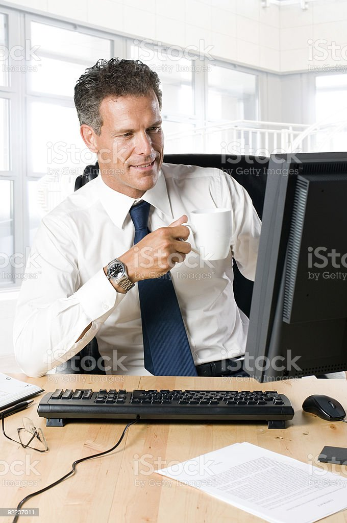 Business break at work royalty-free stock photo