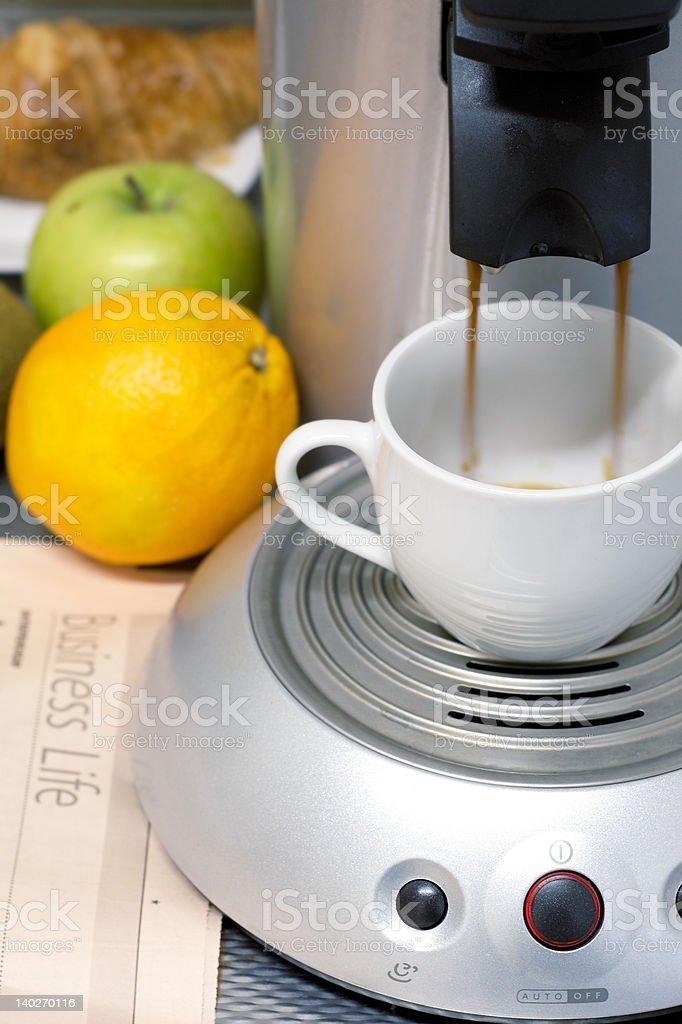 business breakfast concept stock photo