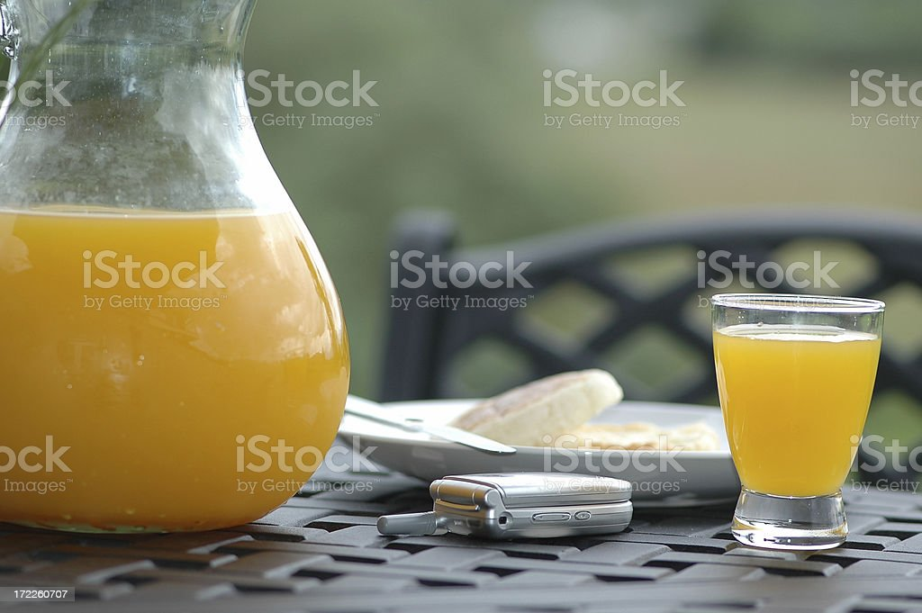 Business Breakfast royalty-free stock photo