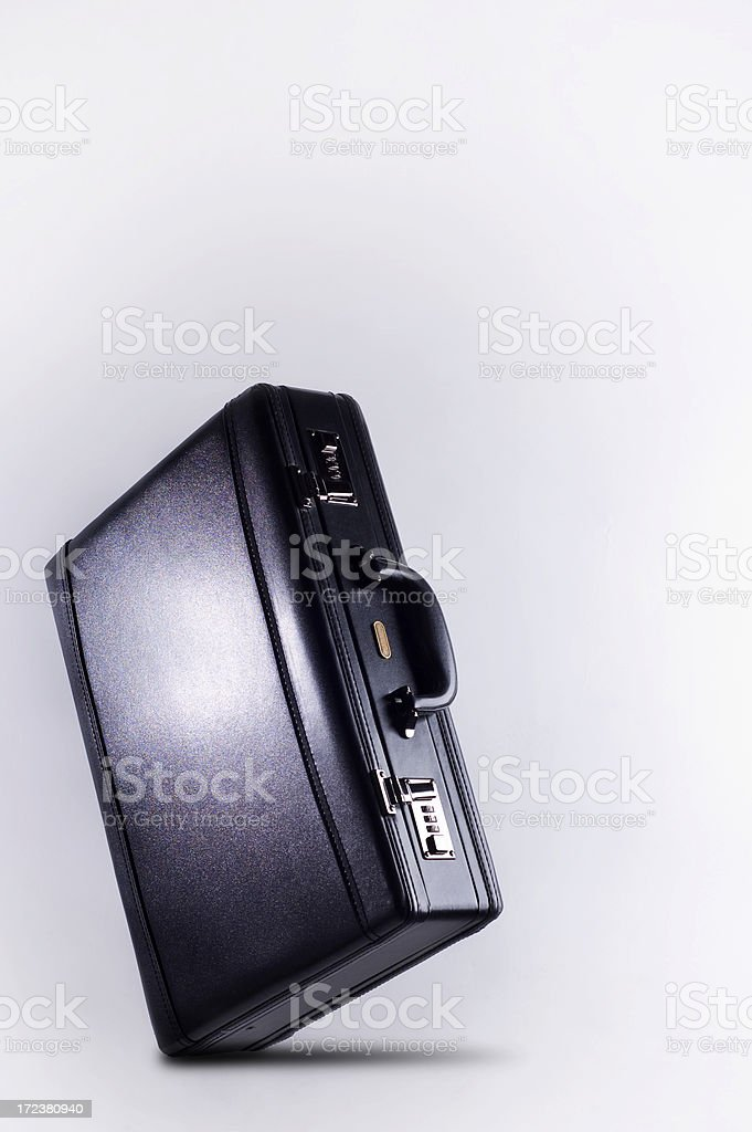 Business briefcase on white royalty-free stock photo